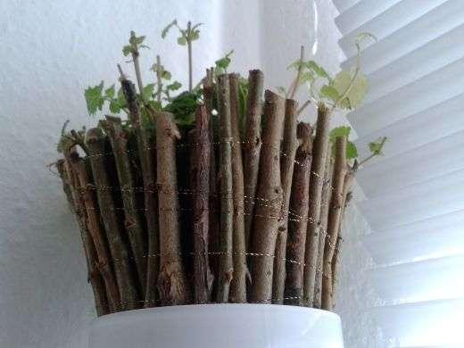 Weiden-Übertopf für Pflanzen